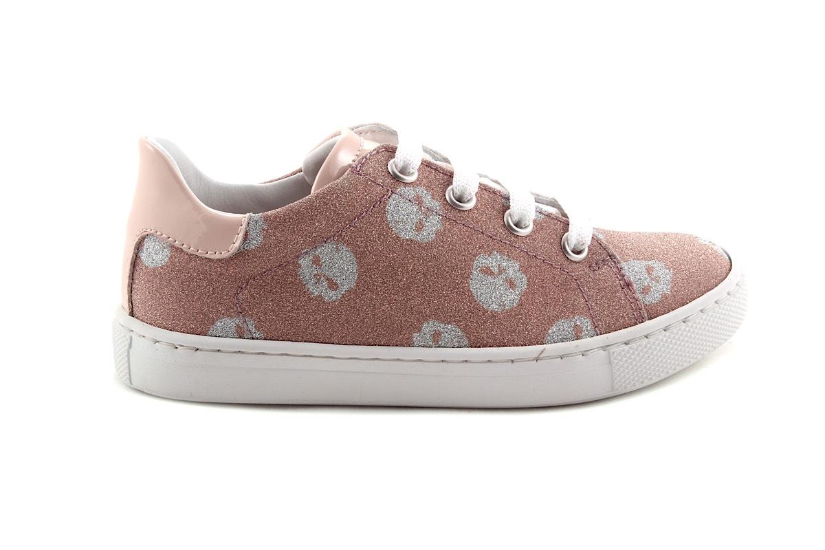 Sneaker Casco Fijne Roze Glitter Laag
