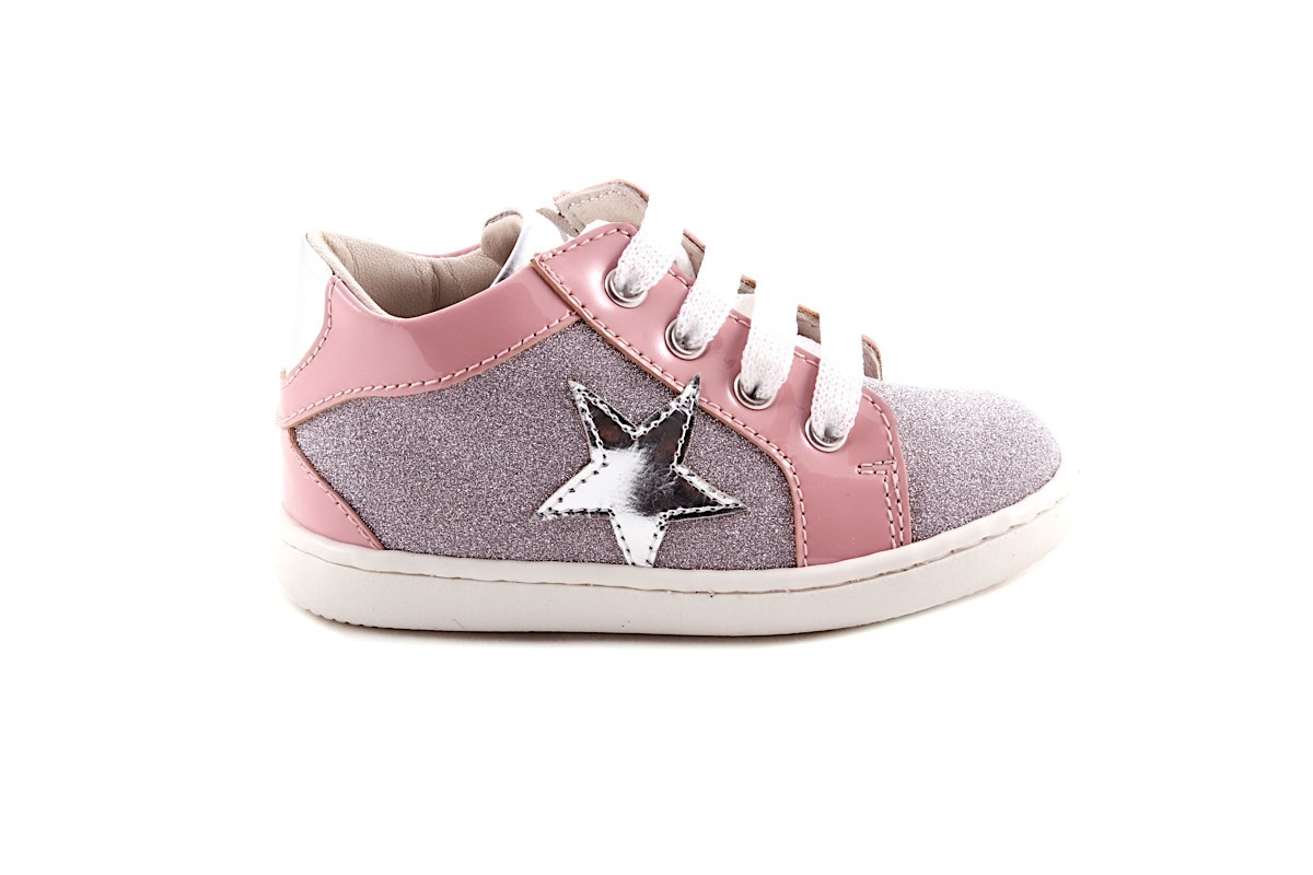 Sneaker Fijne Roze Glitter Ster Laag