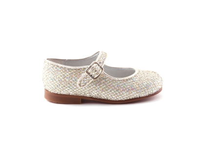schoen gesp multi glitter