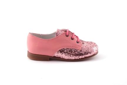 veterschoen derby roze glitter