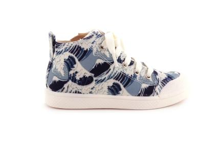 Sneaker Blauwe Golven Hoog