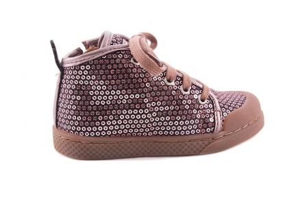 Sneaker Roze Paillettes Zwarte Basis