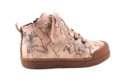Sneaker Metallic Bloemetjes Roze