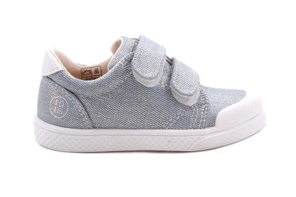 Sneaker Blauw Zilver Blink Velcro