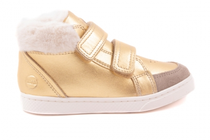 Sneaker Hoog 2 Velcro Goud Metallic
