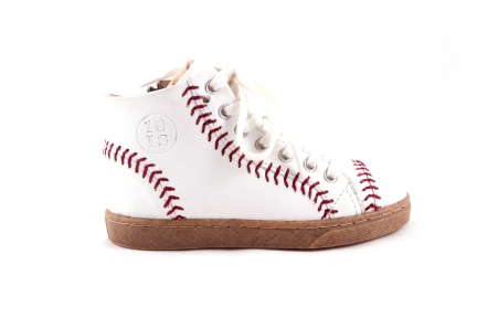 Sneaker Wit Met Bruine Accenten Baseball
