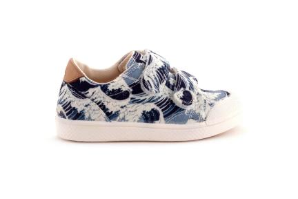 Sneaker Blauwe Golven Velcro