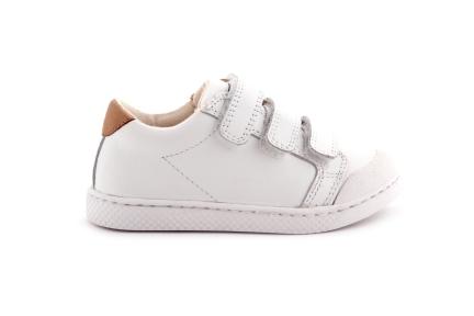 Sneaker Wit Leder Velcro
