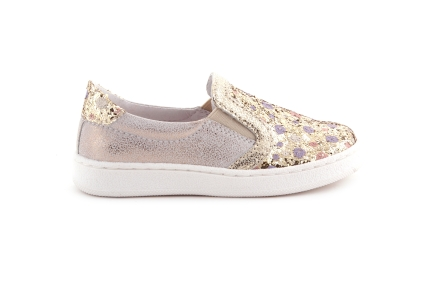 Sneaker Goud Bolletjes Loafer