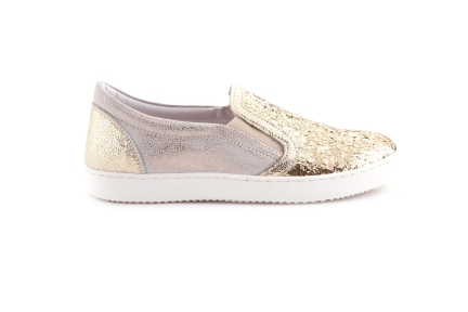 Sneaker Goud Glitter Loafer