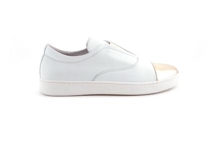 Sneaker Wit/goud Loafer
