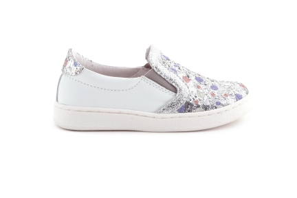 Sneaker Zilver Bolletjes Loafer