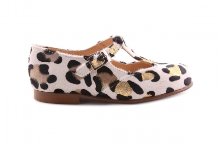 Schoen Gesp T-model Goud Leopard