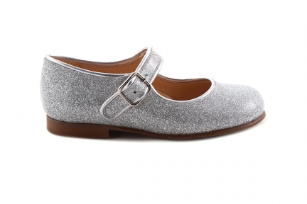 Schoen Gesp Glitter Zilver