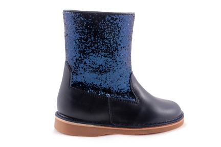 Laars Blauw Glitter Blauw Leder