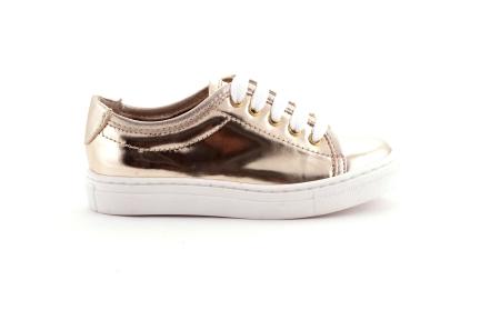 Sneaker in goud met witte zool