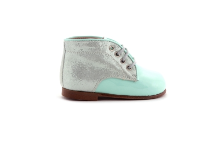 Veterschoen mint lak en blink Mint met biesje