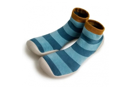 collegien pantoffel blue stripes