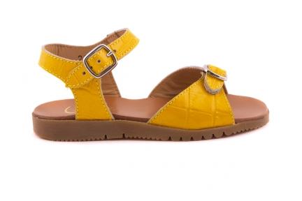 Sandaal 2 Gespen Gele Croco