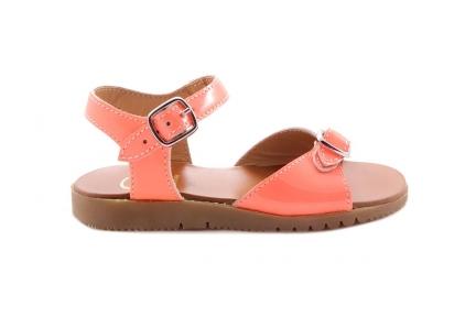 Sandaal Gespje Vooraan Fluo Roze