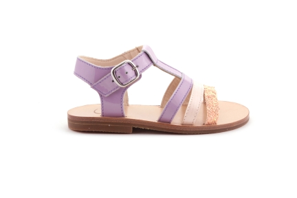 Sandaal Bandjes Vooraan Lila En Roze