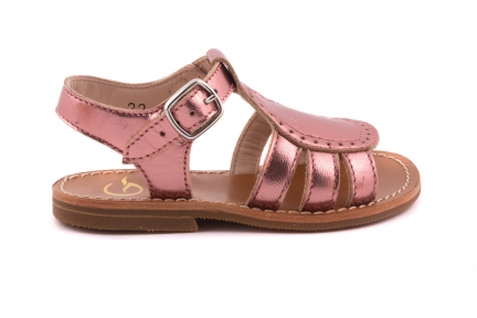 Sandaal Gladiator Roze Metallic`