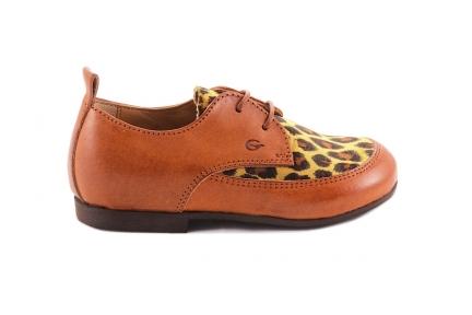 Veterschoen Bruin Leopard Oker
