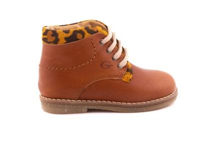 Veterschoen Cognac Leopard