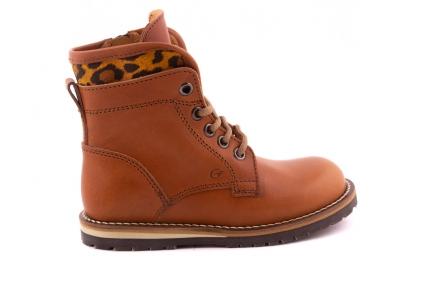 Laars Cognac Rand Leopard