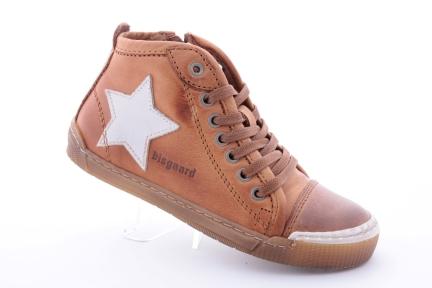 Bisgaard sneaker veter/rits bruin (m32-m39)