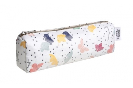 pencil case blue butterflies