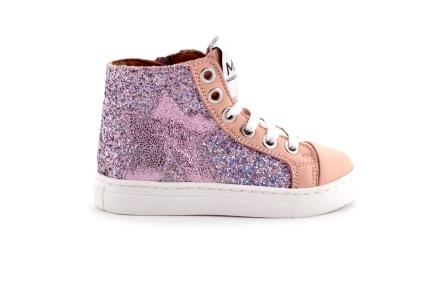 Sneaker Glitter Ster Roze