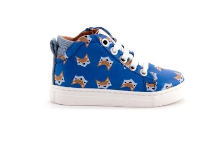 Sneaker vosjes blauw veter en rits