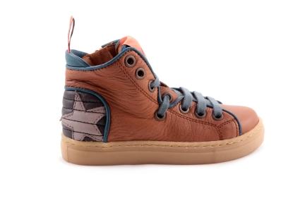 Sneaker Cognac Grijze Ster Achteraan
