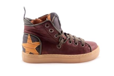 Sneaker Donkerbruin Oker Ster Achteraan