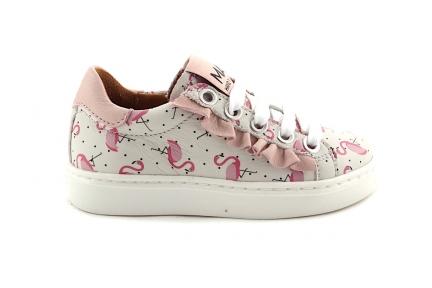 Sneaker Laag Flamingo En Roze Franje