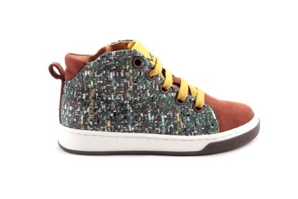 Sneaker Cognac Daim Vooraan Multi