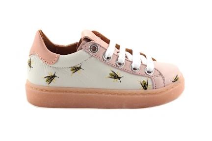 sneaker met Wespjes en roze details