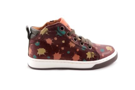 Sneaker Bruin  Verfspatjes