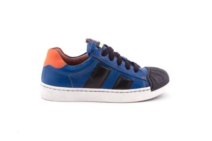 sneaker blauw tip in zwart rubber