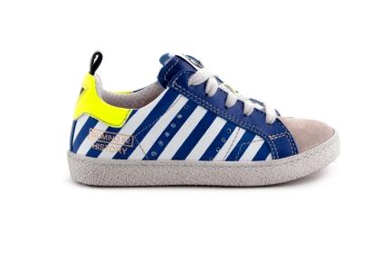 Sneaker Veter rits Blauwe Strepen