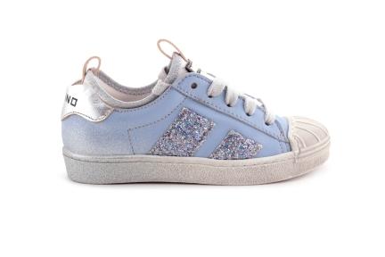 Sneaker Lichtblauw Met Rubber Tip Veter