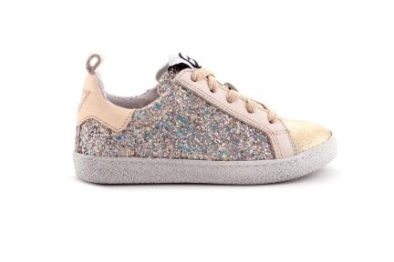 Sneaker Glitter Veter Met Rits