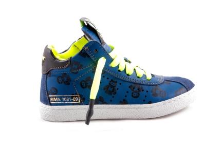 Sneaker Blauw met Robotprint