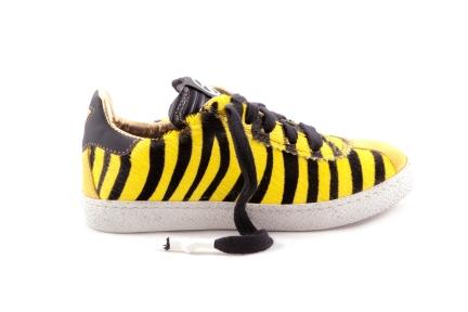 Sneaker Geel Haartjes Zebramotief
