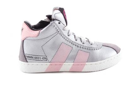 Sneaker Grijs Roze Strepen