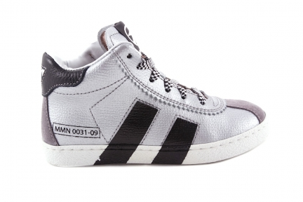 Sneaker Zilver Zwarte Strepen