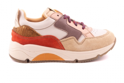 Sneaker Runner Beige/roze/rood