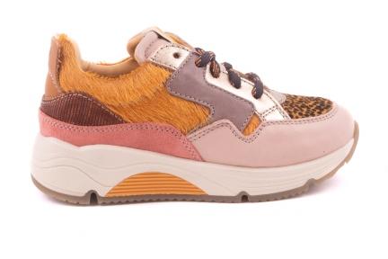 Sneaker Runner Geel Cheetah