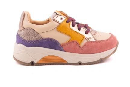 Sneaker Runner Geel/roze/lila